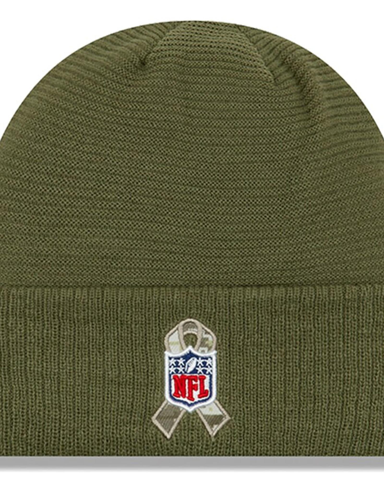 NEW ERA Pittsburgh Steelers New Era NFL 2019 Salute to Service Cuffed Knit Hat
