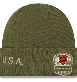 NEW ERA Chicago Bears New Era NFL 2019 Salute to Service Cuffed Knit Hat