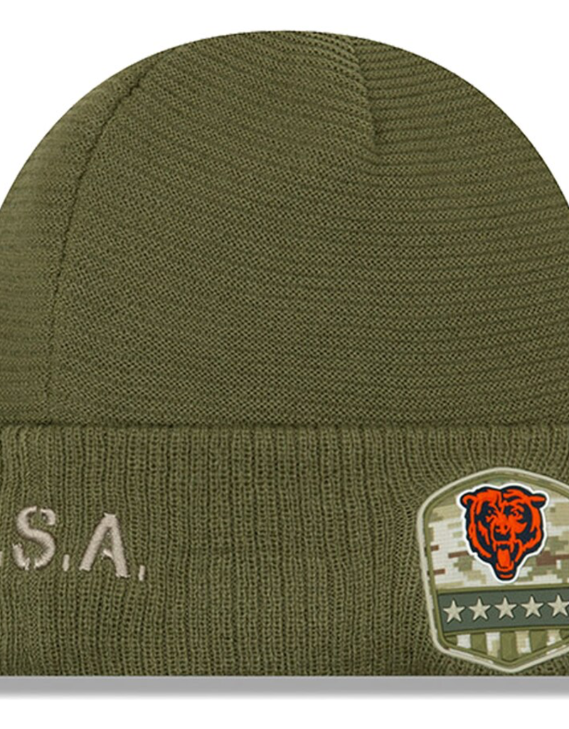 NEW ERA Chicago Bears New Era NFL 2019 Salute to Service Cuffed Knit Hat