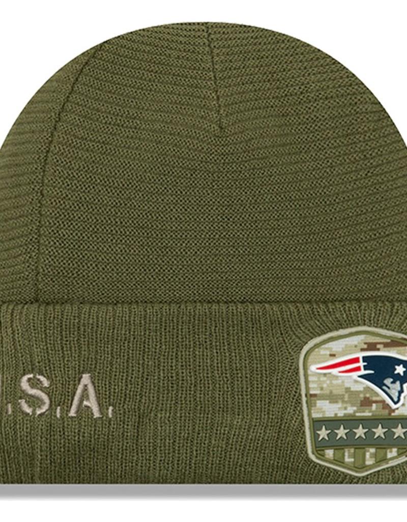NEW ERA New England Patriots New Era NFL 2019 Salute to Service Cuffed Knit Hat