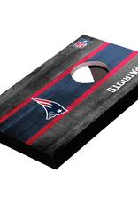 WILD SPORTS New England Patriots Mini Tabletop Cornhole Board