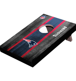 WILD SPORTS New England Patriots Mini Tabletop Cornhole Board