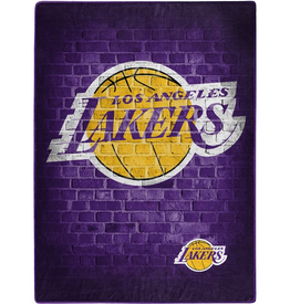 NORTHWEST Los Angeles Lakers 60inx80in  Royal Plush Raschel Throw