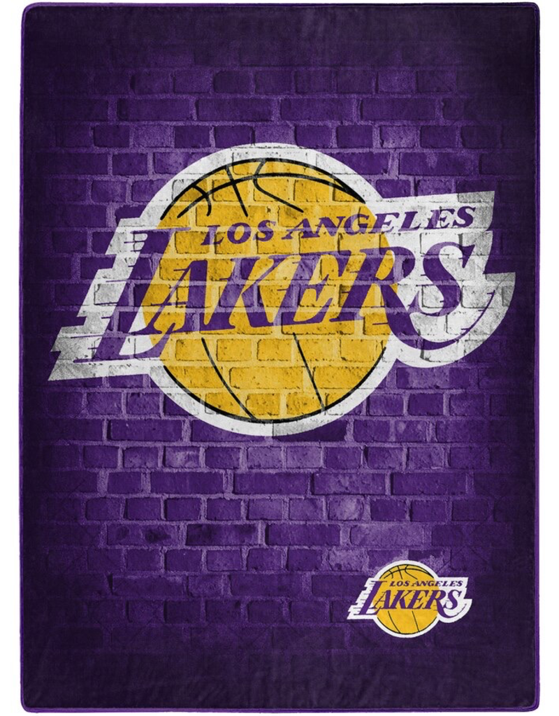 NORTHWEST Los Angeles Lakers 60inx80in  Royal Plush Raschel Throw