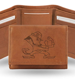 Notre Dame Fighting Irish Genuine Leather Vintage Trifold Wallet