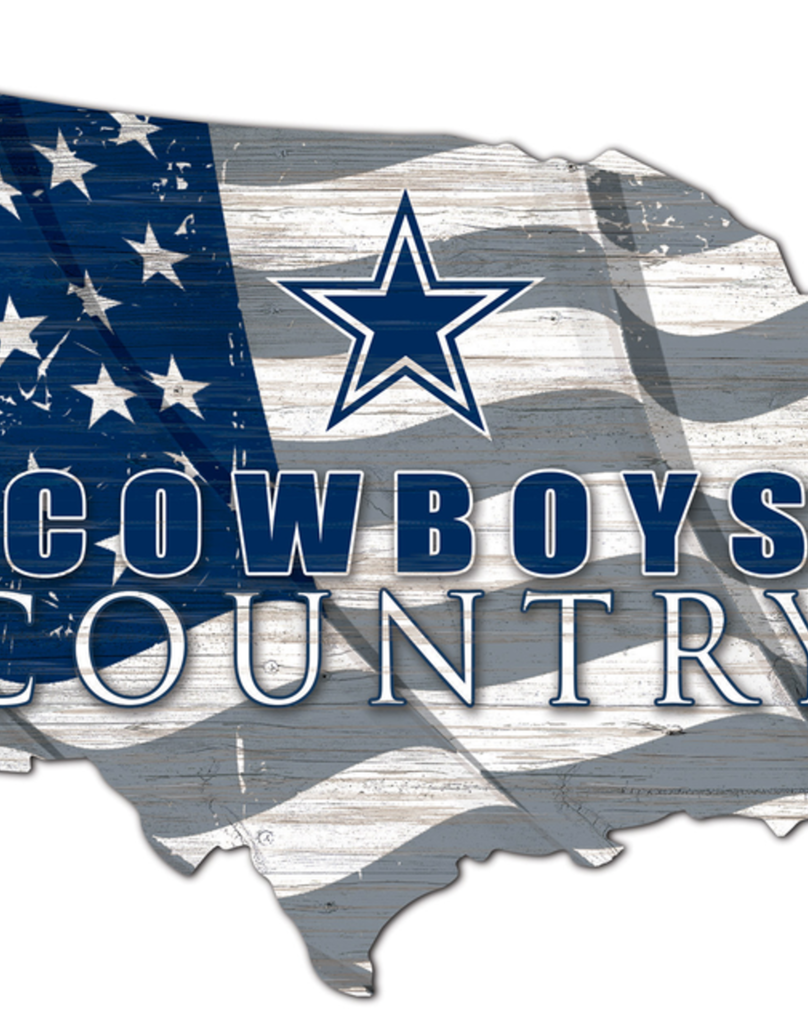 FAN CREATIONS Dallas Cowboys Team Flag Country Sign