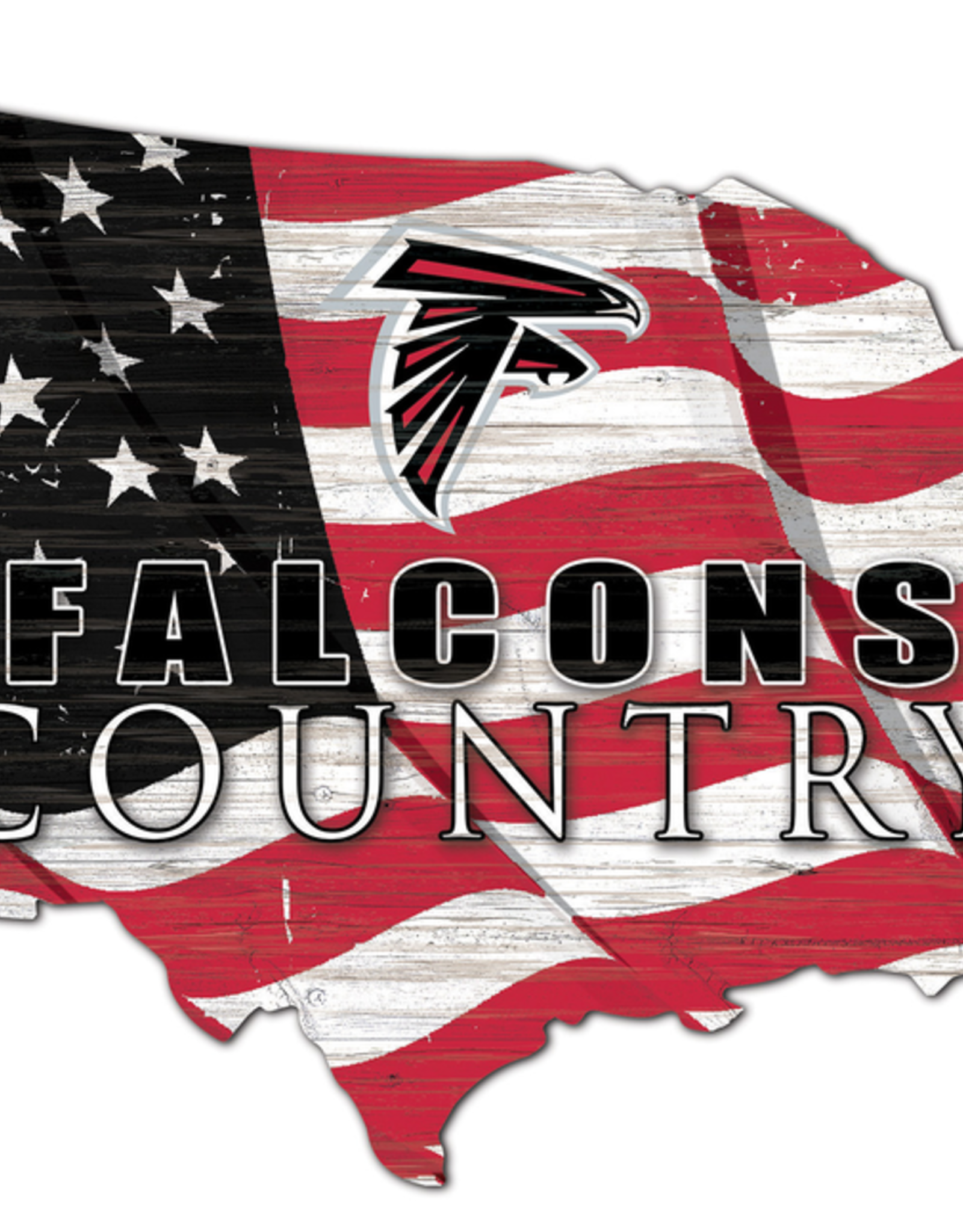 FAN CREATIONS Atlanta Falcons Team Flag Country Sign