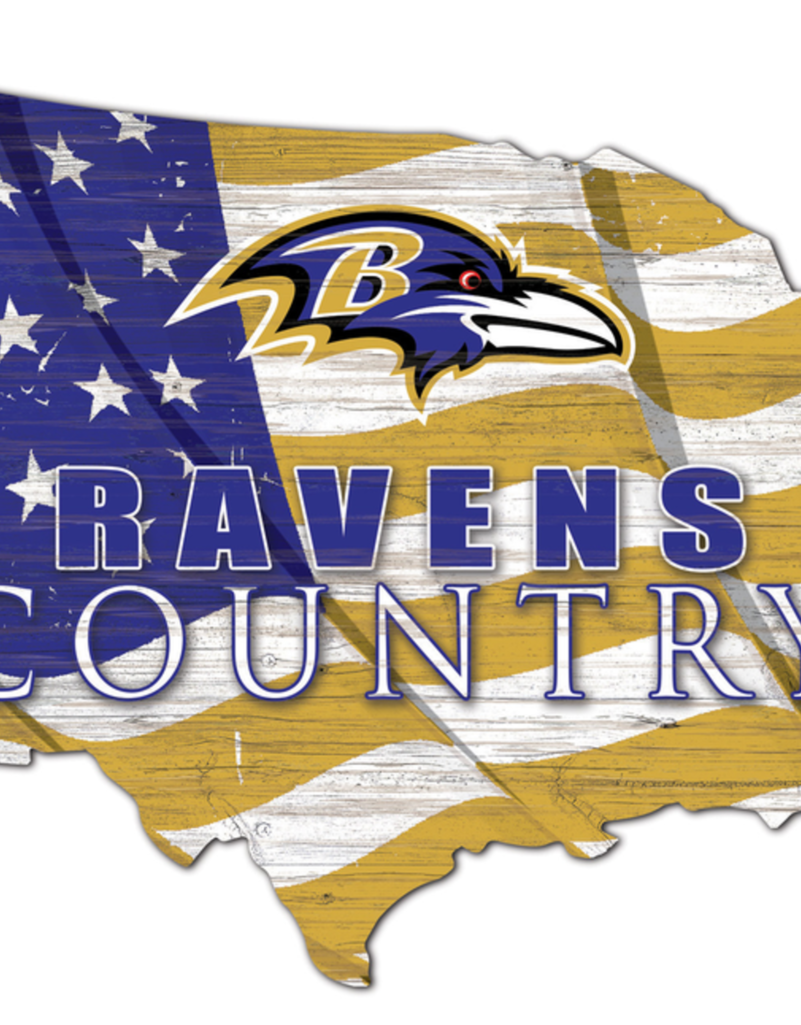 FAN CREATIONS Baltimore Ravens Team Flag Country Sign