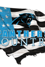 FAN CREATIONS Carolina Panthers Team Flag Country Sign