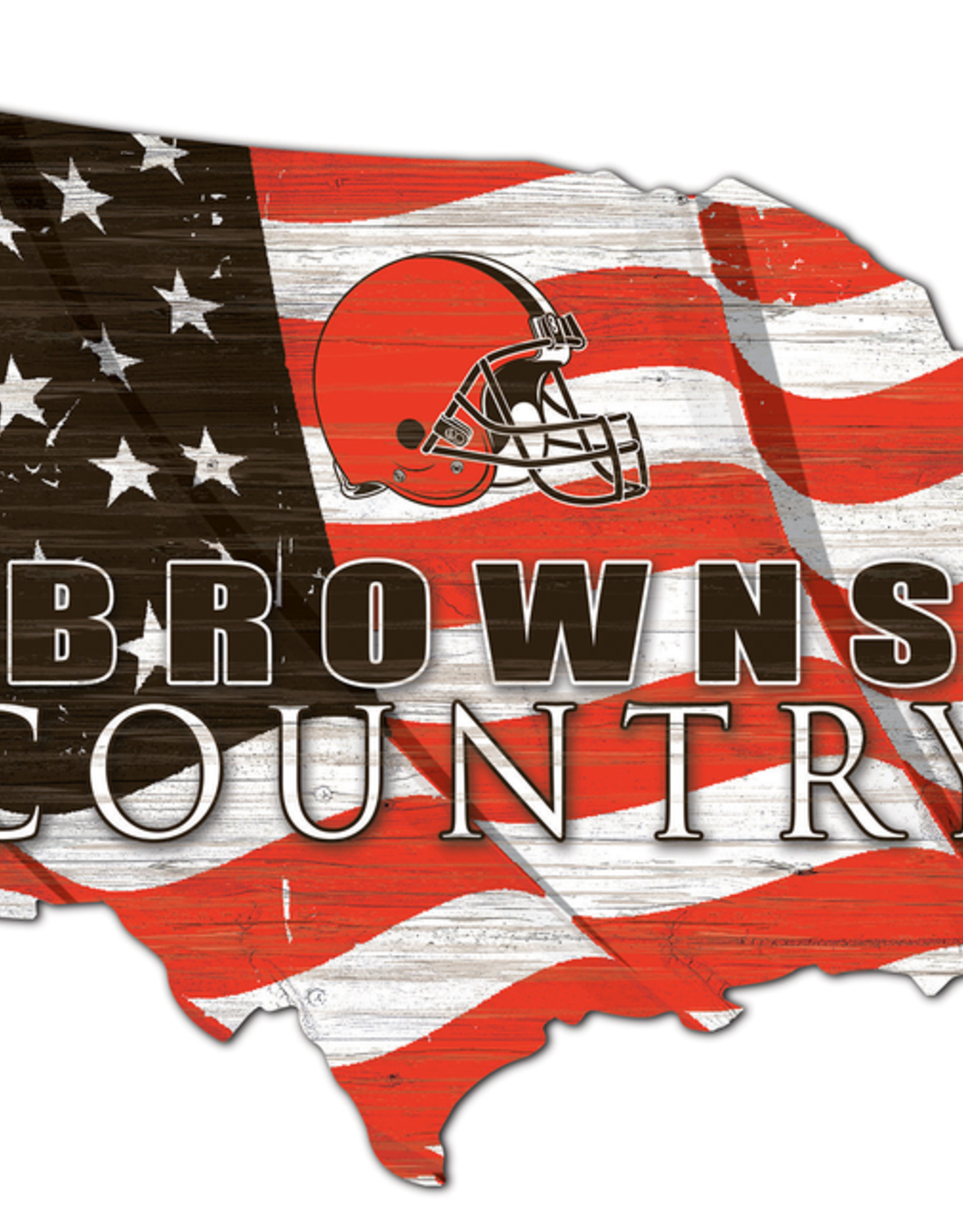 FAN CREATIONS Cleveland Browns Team Flag Country Sign
