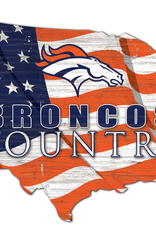 FAN CREATIONS Denver Broncos Team Flag Country Sign