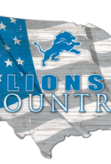 FAN CREATIONS Detriot Lions Team Flag Country Sign