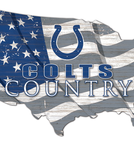 FAN CREATIONS Indianapolis Colts Team Flag Country Sign