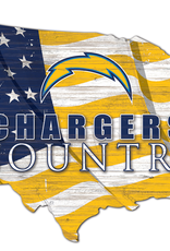 FAN CREATIONS Los Angeles Chargers Team Flag Country Sign