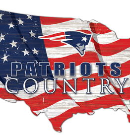 FAN CREATIONS New England Patriots Team Flag Country Sign