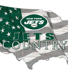 FAN CREATIONS New York Jets Team Flag Country Sign