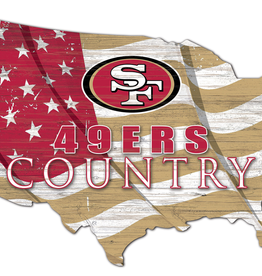 FAN CREATIONS San Francisco 49ers Team Flag Country Sign