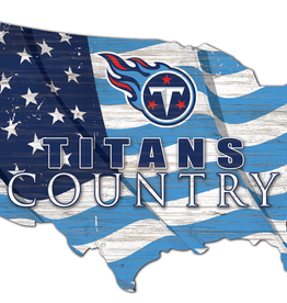 FAN CREATIONS Tennessee Titans Team Flag Country Sign