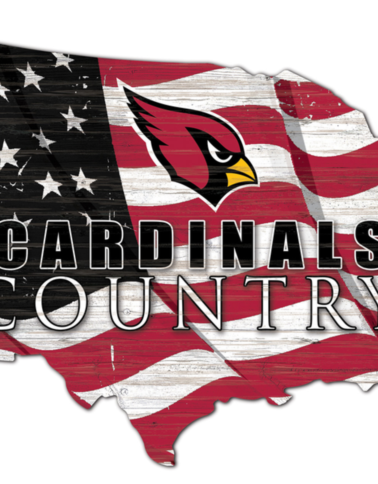 FAN CREATIONS Arizona Cardinals Team Flag Country Sign