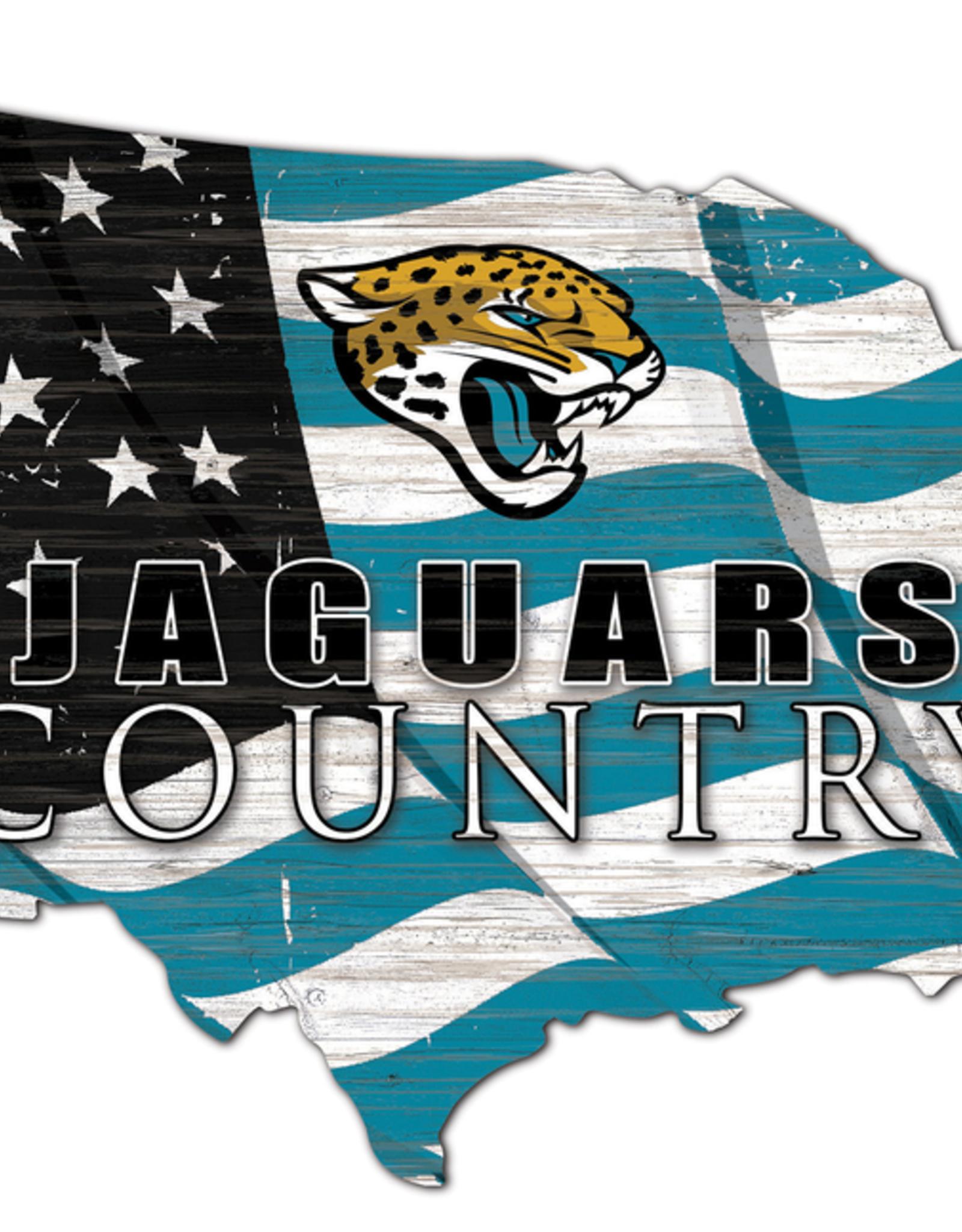FAN CREATIONS Jacksonville Jaguars Team Flag Country Sign