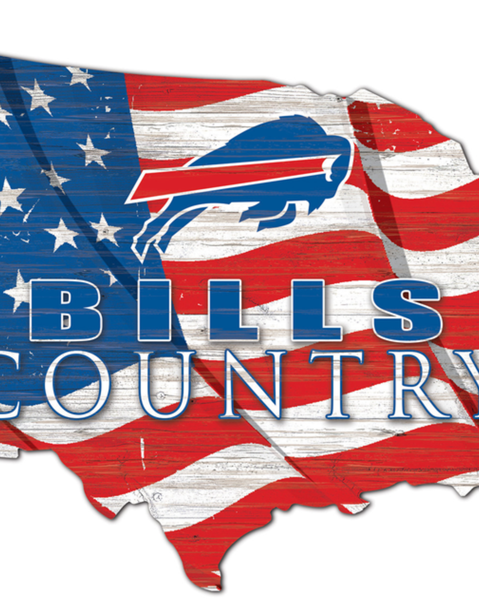 FAN CREATIONS Buffalo Bills Team Flag Country Sign