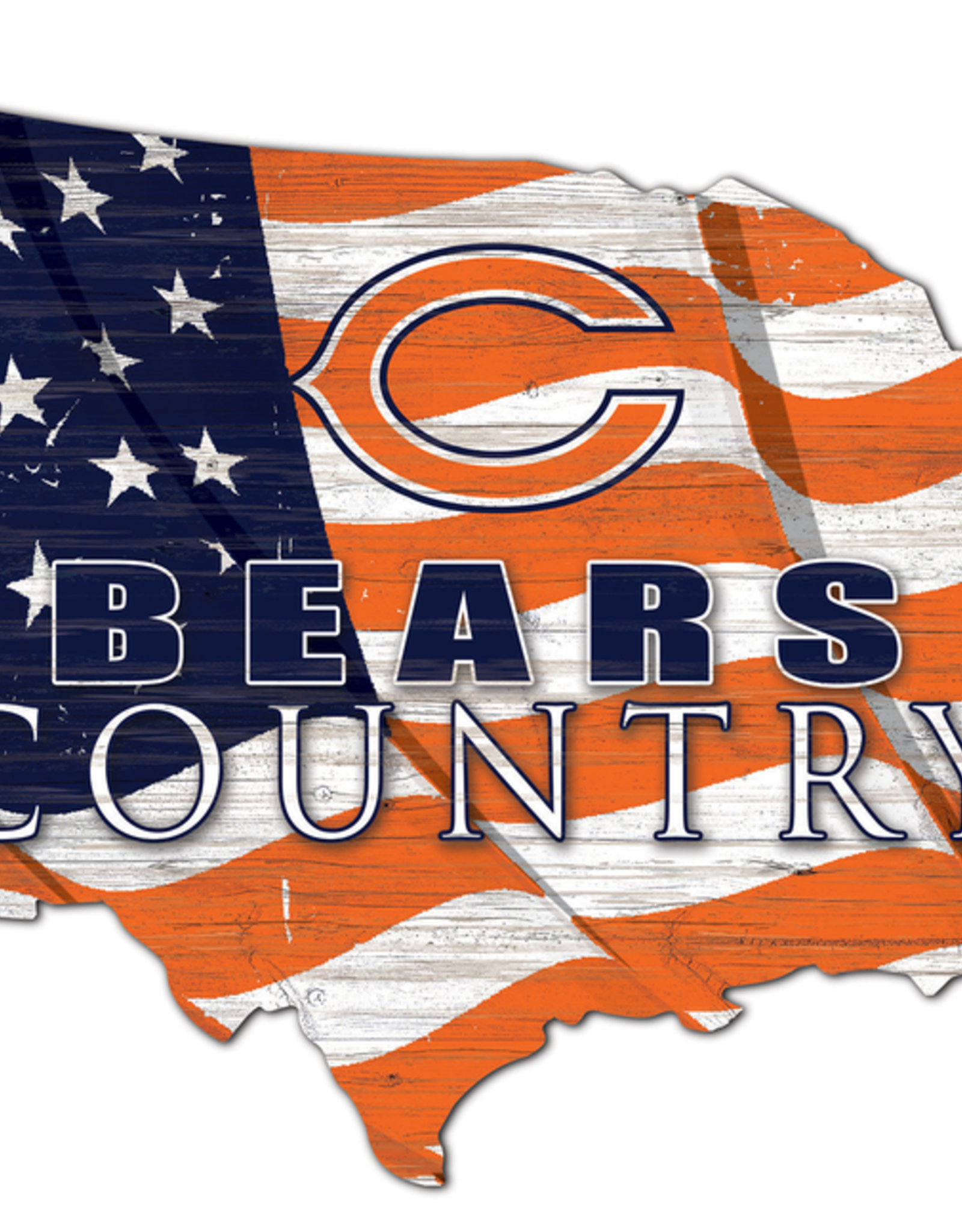 FAN CREATIONS Chicago Bears Team Flag Country Sign