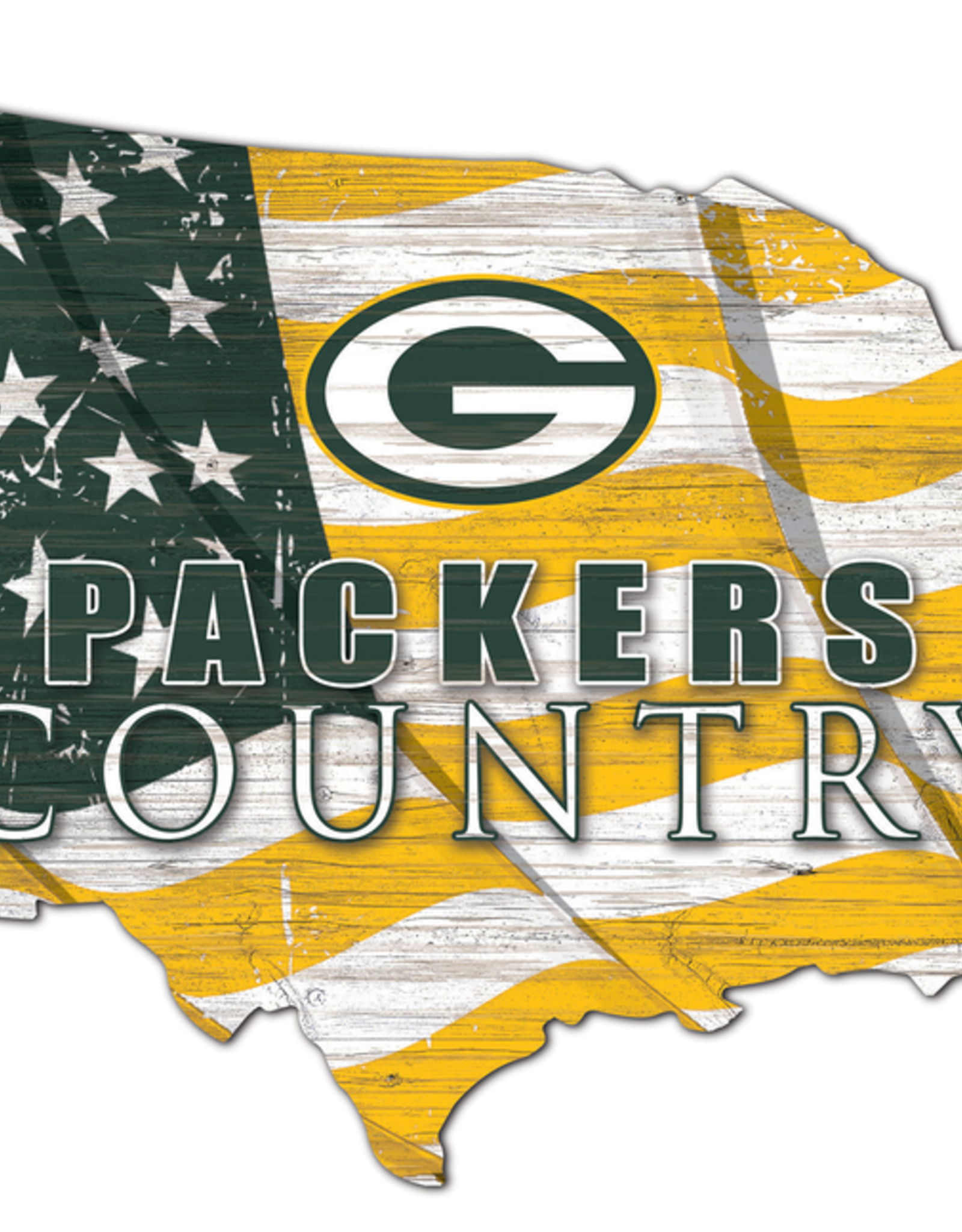 FAN CREATIONS Green Bay Packers Team Flag Country Sign