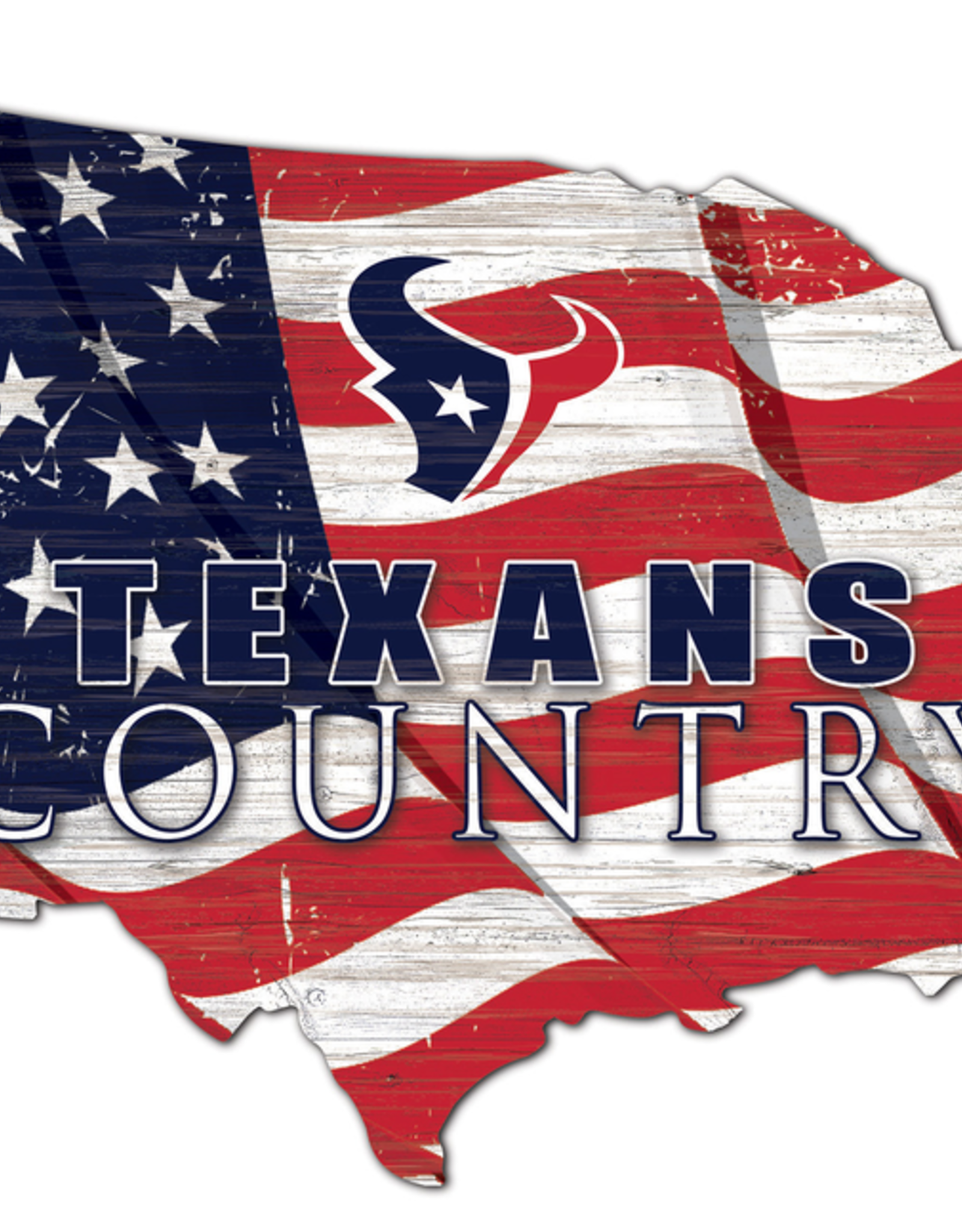 FAN CREATIONS Houston Texans Team Flag Country Sign