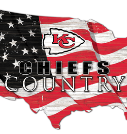 FAN CREATIONS Kansas City Chiefs Team Flag Country Sign