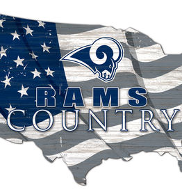 FAN CREATIONS Los Angeles Rams Team Flag Country Sign