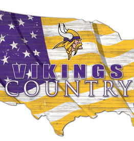 FAN CREATIONS Minnesota Vikings Team Flag Country Sign