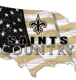FAN CREATIONS New Orleans Saints Team Flag Country Sign