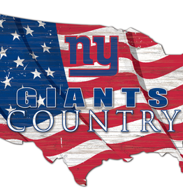 FAN CREATIONS New York Giants Team Flag Country Sign