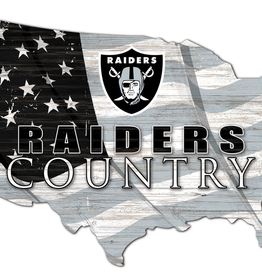 FAN CREATIONS Oakland Raiders Team Flag Country Sign