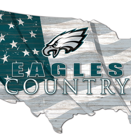 FAN CREATIONS Philadelphia Eagles Team Flag Country Sign
