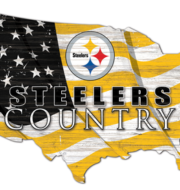 FAN CREATIONS Pittsburgh Steelers Team Flag Country Sign