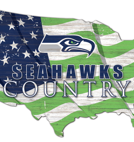 FAN CREATIONS Seattle Seahawks Team Flag Country Sign