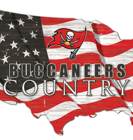 FAN CREATIONS Tampa Bay Buccaneers Team Flag Country Sign