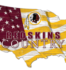 FAN CREATIONS Washington Redskins Team Flag Country Sign