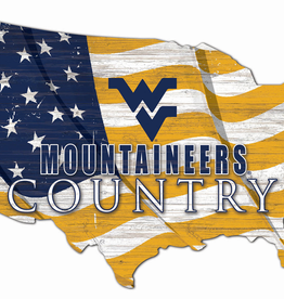 FAN CREATIONS West Virginia Mountaineers Team Flag Country Sign
