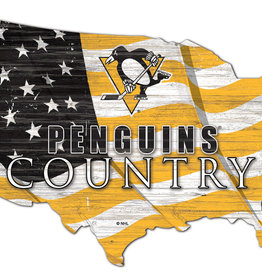 FAN CREATIONS Pittsburgh Penguins Team Flag Country Sign