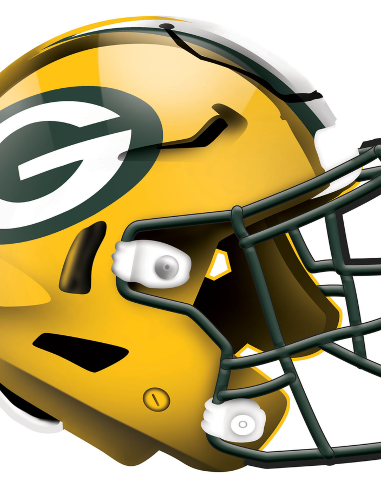 FAN CREATIONS Green Bay Packers 12in Wood Helmet Sign
