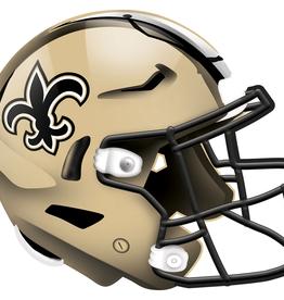 FAN CREATIONS New Orleans Saints 12in Wood Helmet Sign
