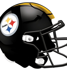 FAN CREATIONS Pittsburgh Steelers 12in Wood Helmet Sign