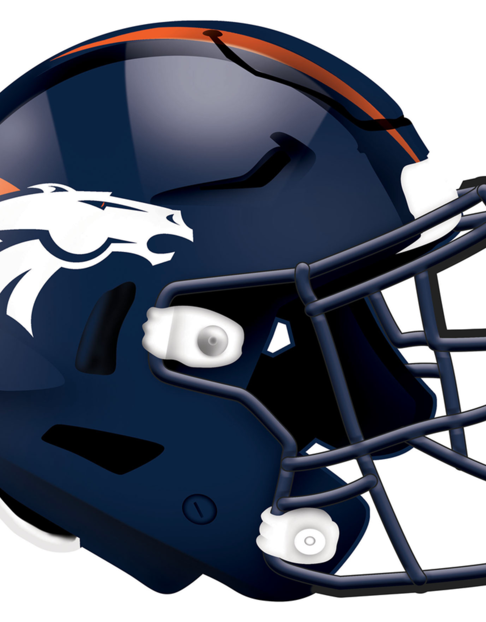 FAN CREATIONS Denver Broncos 12in Wood Helmet Sign