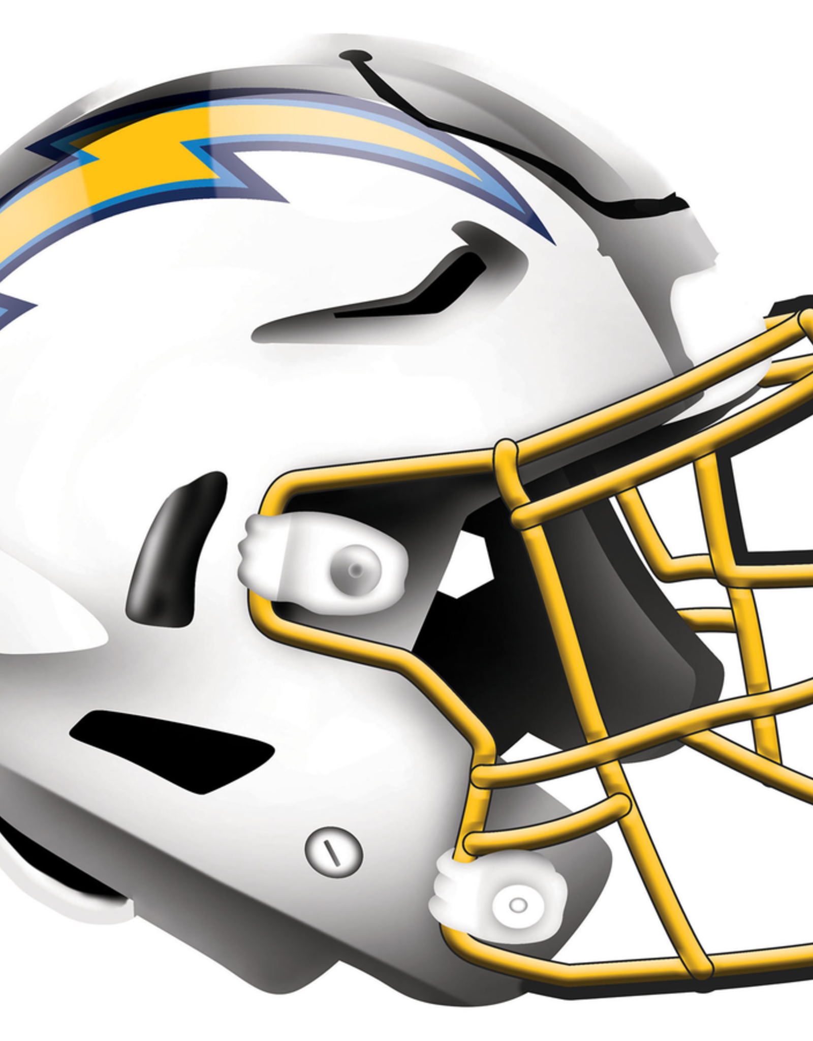 FAN CREATIONS Los Angeles Chargers 12in Wood Helmet Sign
