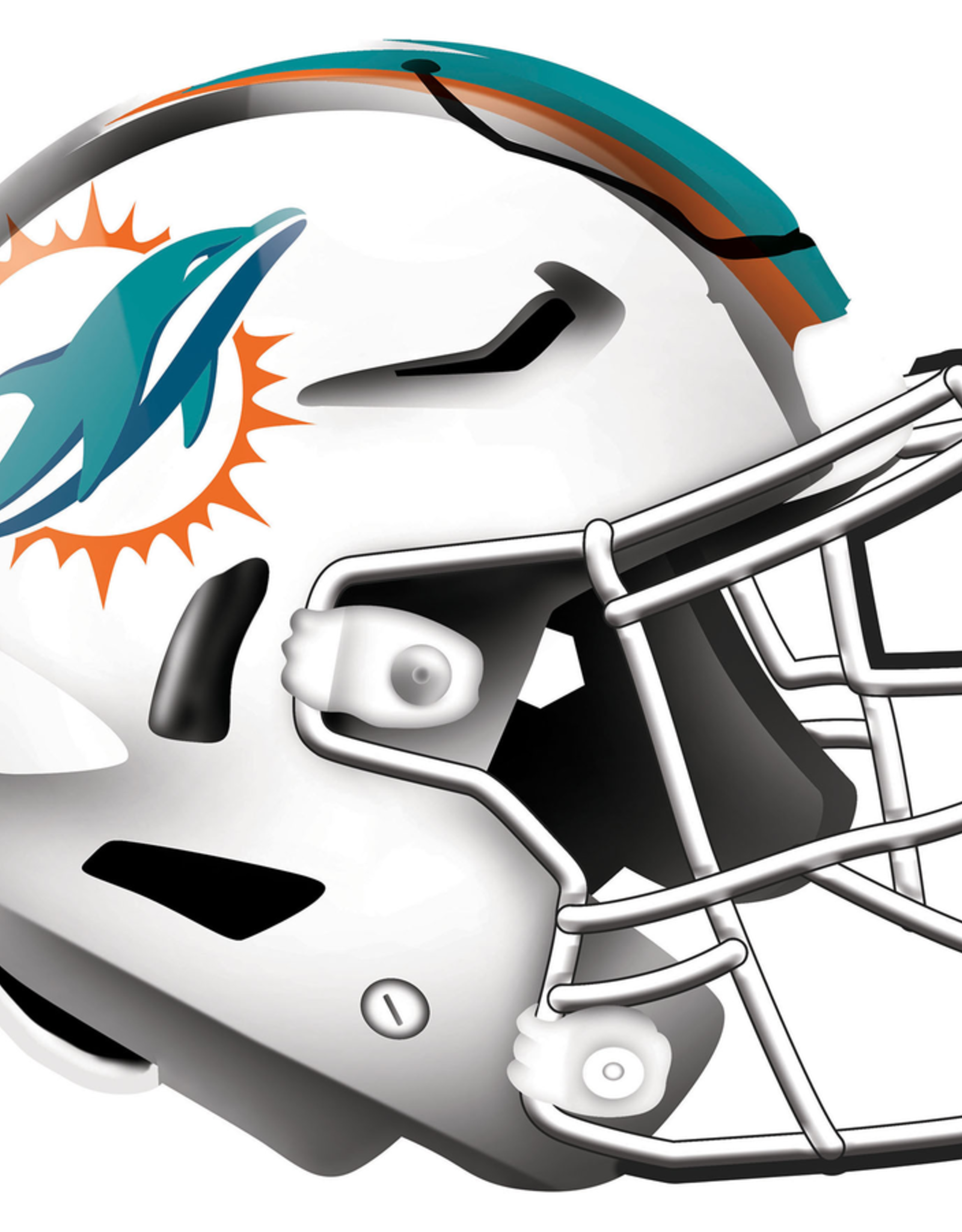 FAN CREATIONS Miami Dolphins 12in Wood Helmet Sign