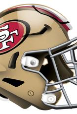 FAN CREATIONS San Francisco 49ers 12in Wood Helmet Sign
