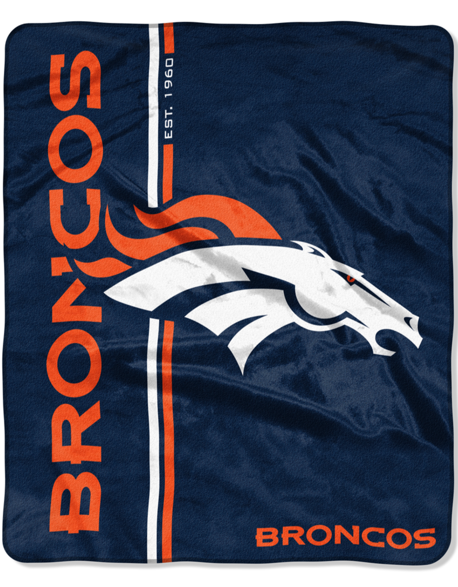 NORTHWEST Denver Broncos Restructure Royal Plush Raschel Throw