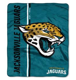 NORTHWEST Jacksonville Jaguars Restructure Royal Plush Raschel Throw